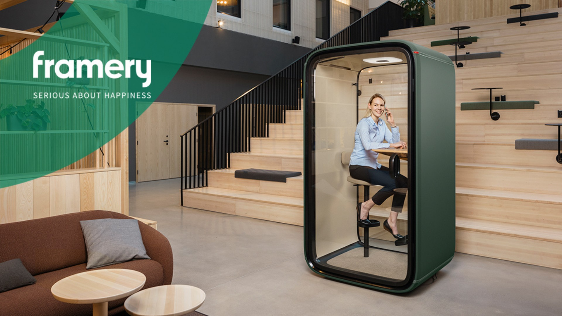 Our partner, Framery,  has introduced a new product to the market -  the Framery One Connected booth!