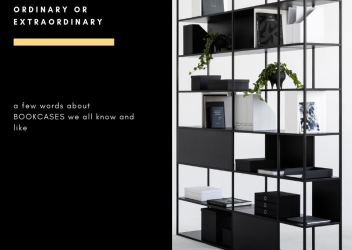 ORDINARY or EXTRAORDINARY a few words about BOOKCASES we all know and like